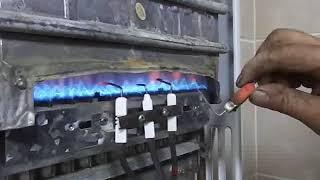 Газовая колонка (Оазис) При включение  нет розжига