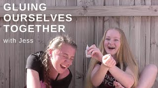 SUPER GLUE YOURSELF CHALLENGE | With Jess