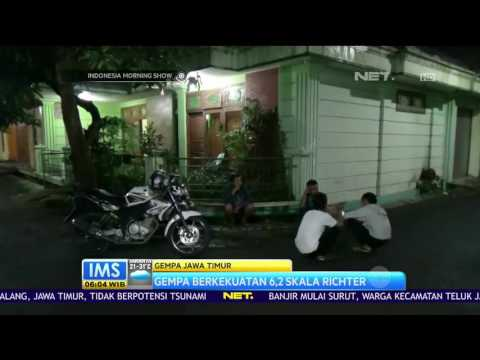 Gempa 6,2 SR Guncang Jawa Timur