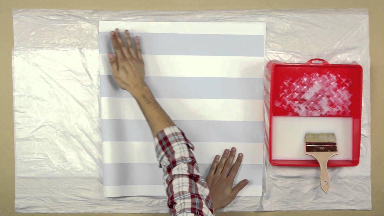 Colocar papel de parede num quarto de criança - YouTube