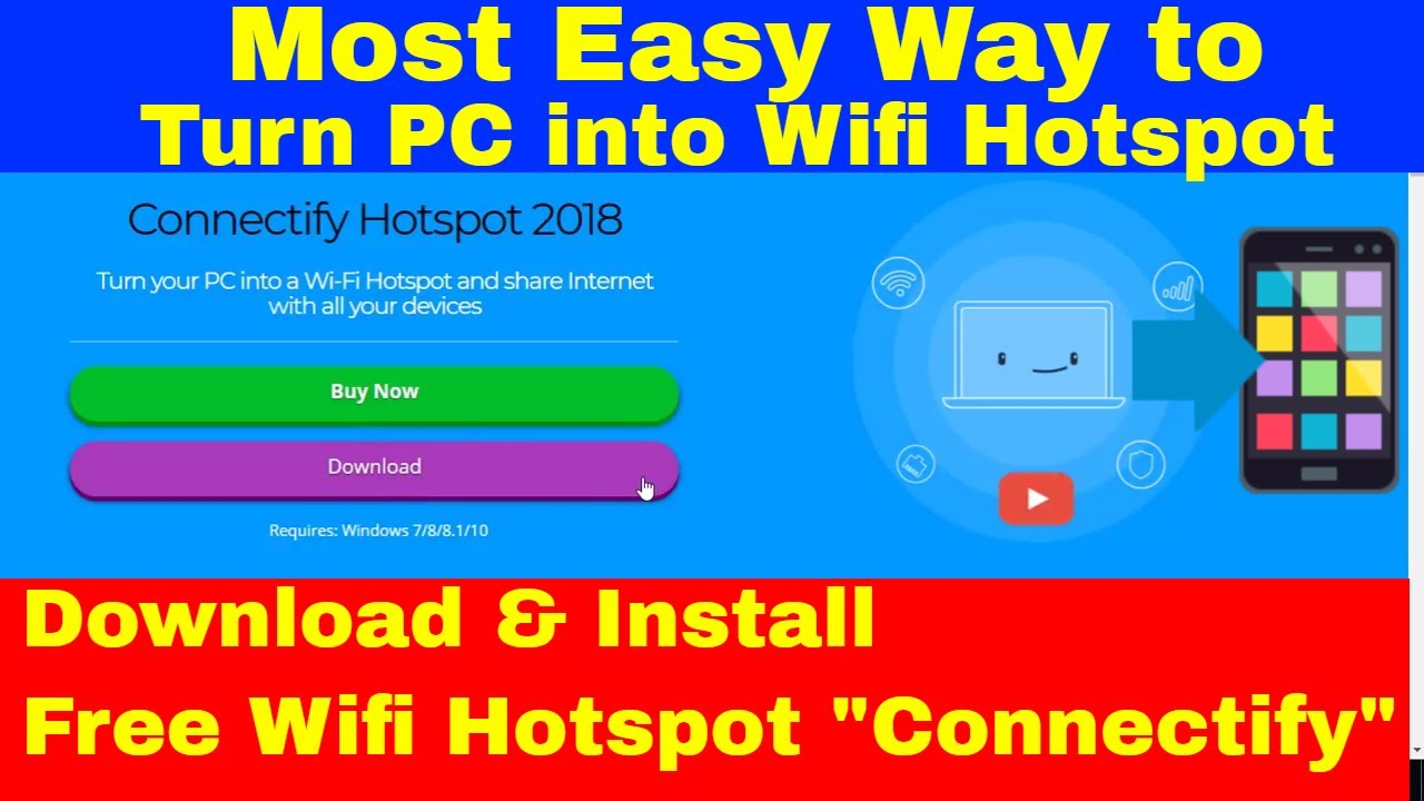 How to Start WiFi Hotspot on Your PC || Connectify 2018