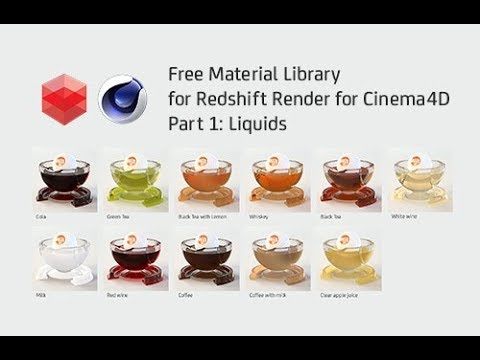 Free Liquid Material Library for Redshift Render for Cinema 4D - Part 1