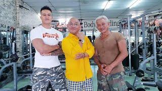 Cười lộn ruột cảnh Color Man tầm lão sư 62 tuổi để tập gym giữ dáng