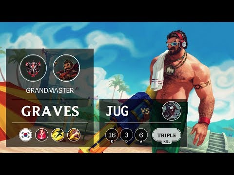 Graves Jungle vs Kayn - KR Grandmaster Patch 9.9