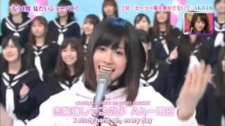 AKB48 - Sailor fuku wo nugasanaide [Eng sub]