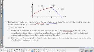AP Calculus BC: AP Review - Volumes with Known Cross-Section