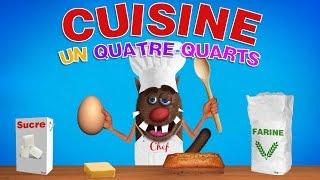 Foufou - Cuisiner un 4-Quarts pour les enfants (Learn to cook a cake for kids) 4k