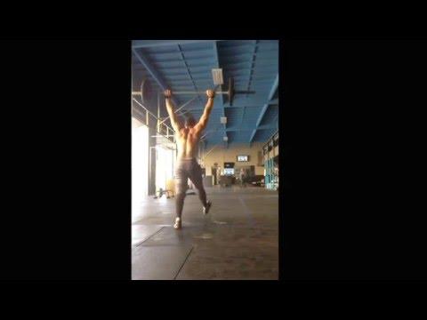 Josh Miller does CrossFit Games Open WOD 16.1 265 reps