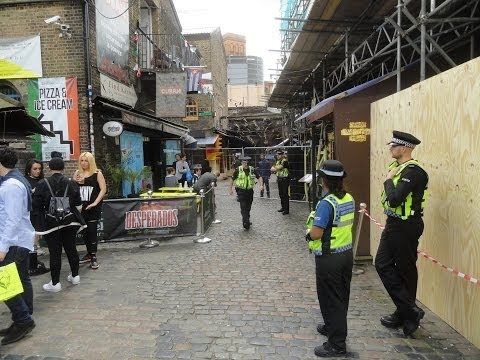 Camden Stables Market Fire aftermath - NEARLY ALL SHOPS NOW REOPENED - 10TH JUNE 2014