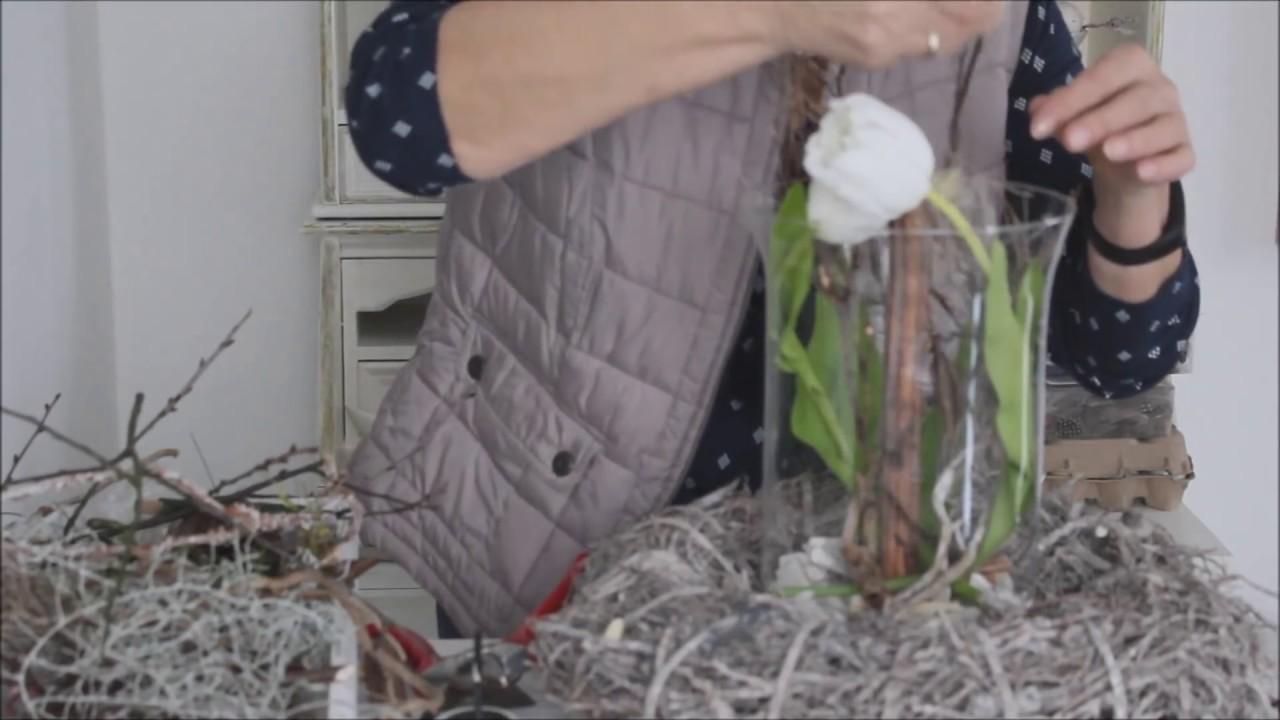 fr hlingsdeko tulpen im glas b rbel s wohn deko. Black Bedroom Furniture Sets. Home Design Ideas