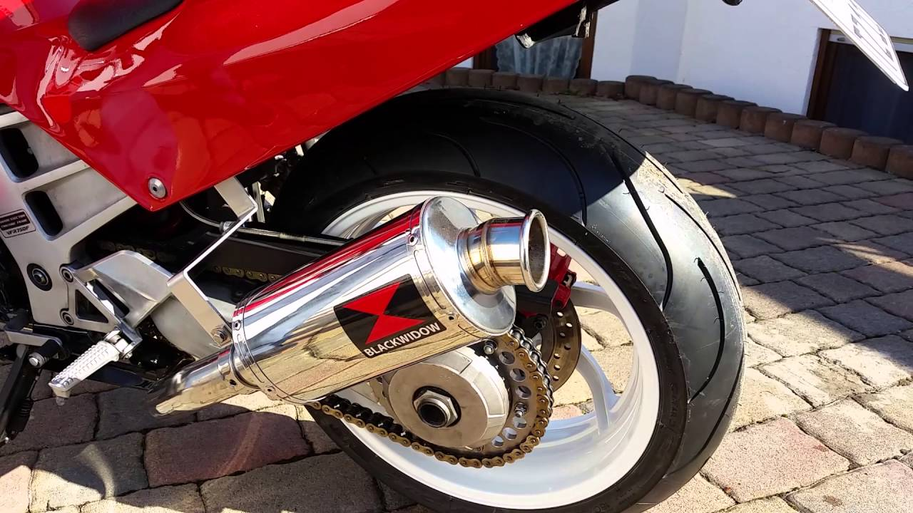 honda vfr 750 rc36 with black widow exhaust youtube. Black Bedroom Furniture Sets. Home Design Ideas