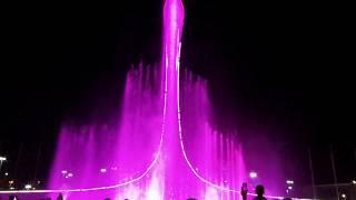 Шоу музыкальный фонтан в Олимпийском парке 2019. Медальная площадь.