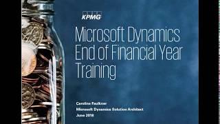 Microsoft Dynamics NAV End of Financial Year Training