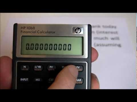 HP10BII -- Introduction and 5-Key Time Value of Money Examples