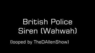 British Police Siren Sound Effect (Yelp)