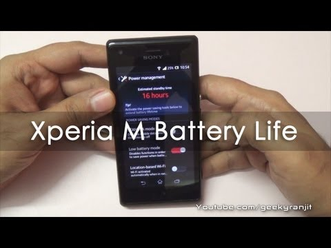Sony Xperia M Android Phone Battery Life
