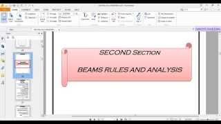 دورة اعداد مهندس | اقواعد وضع وتصميم الكمرات والملاحظات الهامة عليها