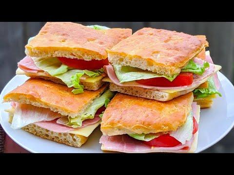 pain-maison-pour-un-sandwich-incroyable-/-recette-facile-/-focaccia-bread