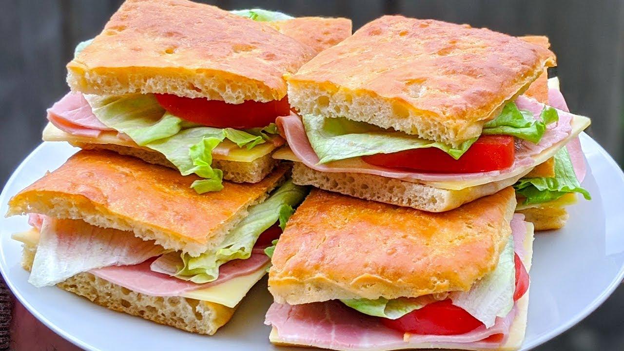 PAIN maison pour un sandwich INCROYABLE / RECETTE FACILE / Focaccia BREAD