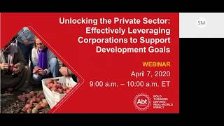 Unlocking the Private Sector: Effectively Leveraging Corporations to Support Development Goals