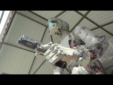 Russia Fedor Autonomous Robot Dual Handgun Live Firing Test [720p]