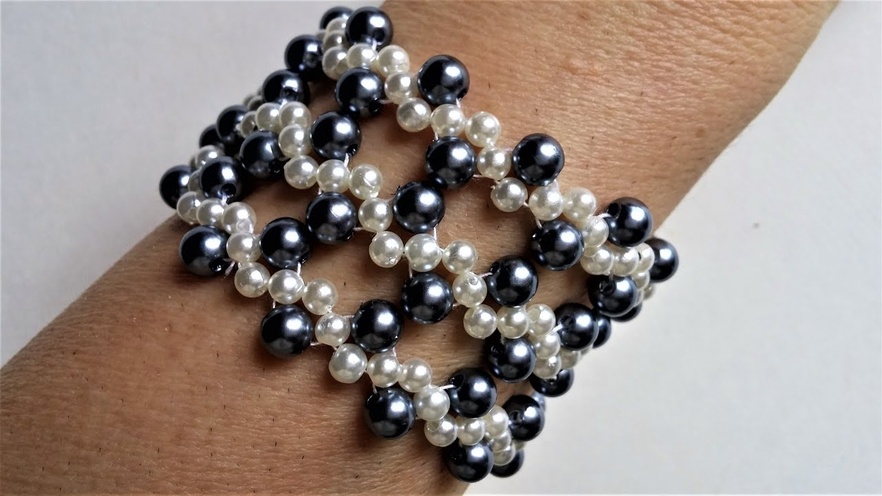 2 Colors Pearl Beads Jewelry Set Make Your Own Jewelry