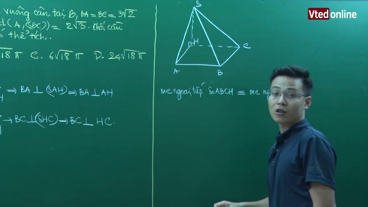 Vted.vn – Vận dụng cao tính bán kính mặt cầu ngoại tiếp đa diện (Phần 2)