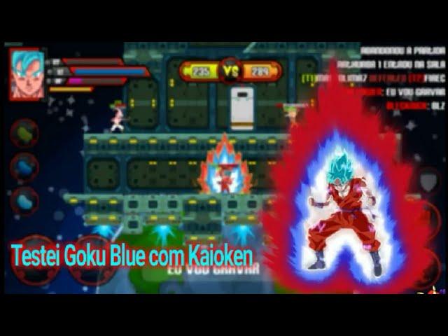 Testei Goku Blue com Kaioken:-Saiyan Arena Online-
