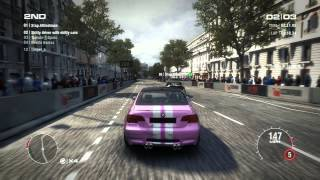 GRID 2 PC Multiplayer Race Gameplay: Tier 2 Upgraded BMW M3 E92 Coupe in Paris, Arc De Triomphe