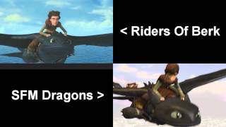 [SFM Dragons] This is Berk - Comparison