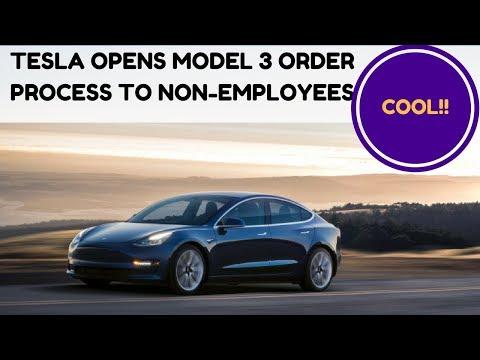 Tesla Model 3 - Tesla opens Model 3 order process to non-employees - ZUBER CAR
