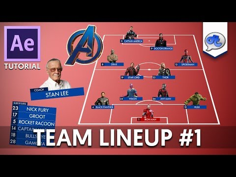 Adobe After Effects | TUTORIAL #75 : TEAM LINEUP #1 (Bahasa Indonesia) thumbnail