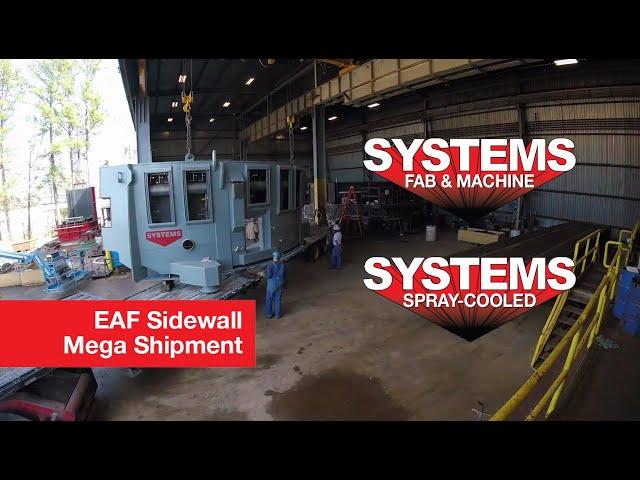 Mega EAF Spray-Cooled Sidewalls Heading Out!