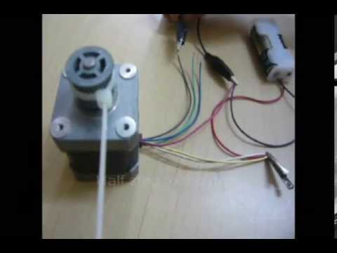 How To Identify The Wires Leads Of A Stepper Motor Youtube
