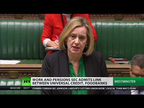 Amber Rudd admits there's a link between Universal Credit roll outs and foodbanks use