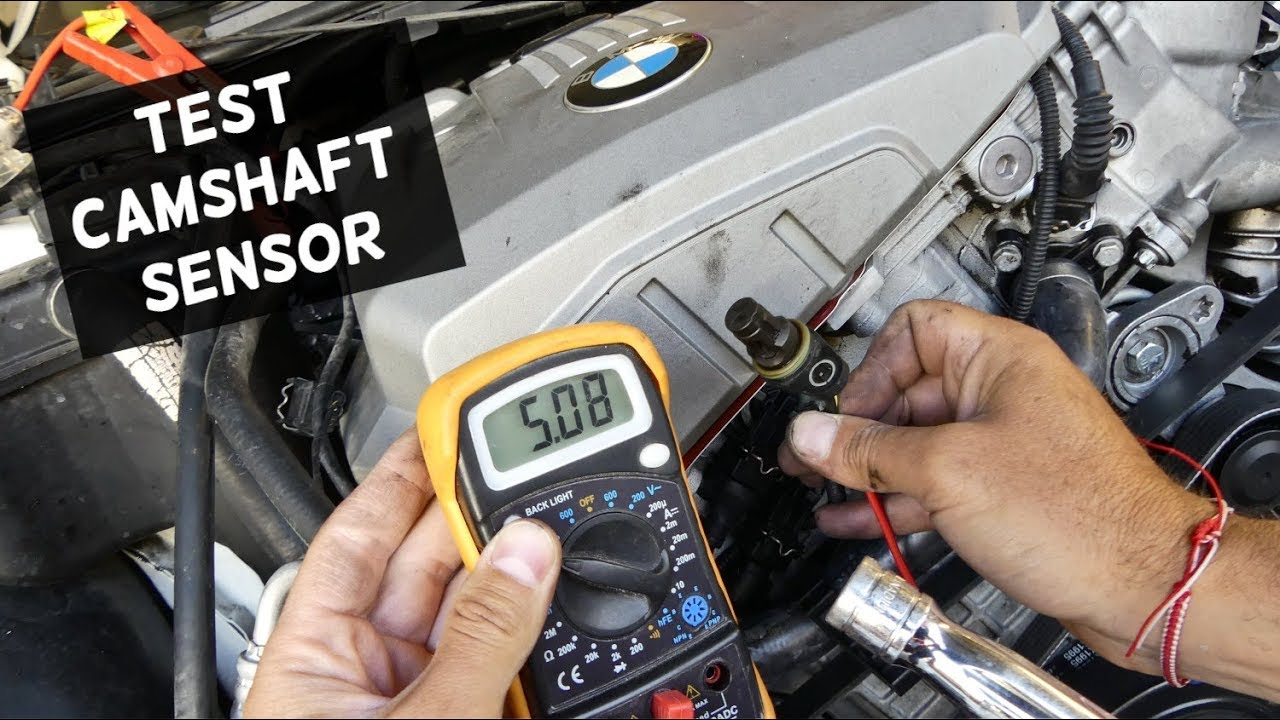 hight resolution of how to test camshaft position sensor demonstrated on bmw