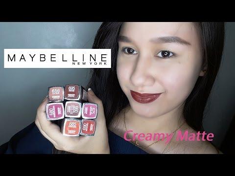 MAYBELLINE CREAMY MATTE LIPSTICKS   Jhen Masaya Bonayon