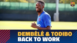 Dembélé and Todibo begin preseason training