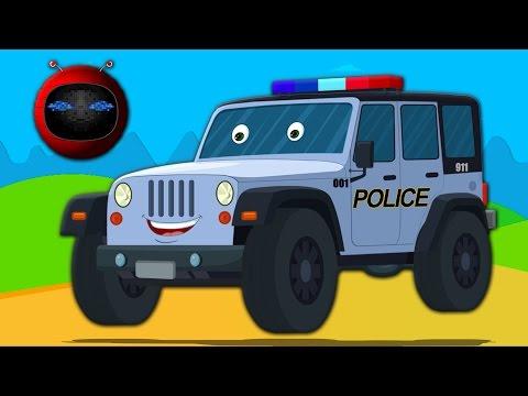 jeep de la police | Formation et utilisations | voiture jouet | Kids Vehicles | Police Jeep | Zobic