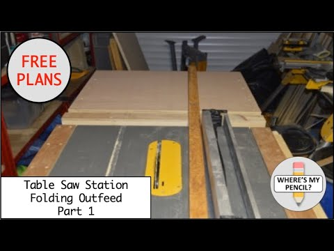 Mobile Table Saw Station Folding Outfeed Table Part 1