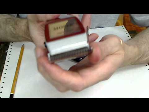 MOSER 1400 - выставление ножей