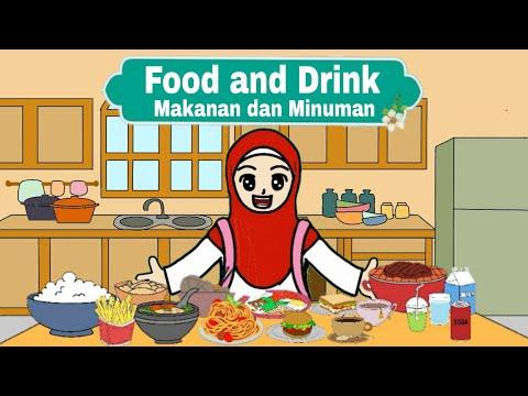 Belajar Nama- Nama Makanan Dan Minuman Dalam Bahasa Inggris  (Food U0026 Drink)