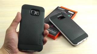 ОБЗОР: Комбинированный Чехол-Накладка для Samsung Galaxy S6 SM-G920F (силикон + поликарбонат)