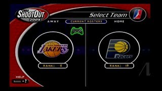 NBA ShootOut 2004 (PS2) Lakers Season Game #3