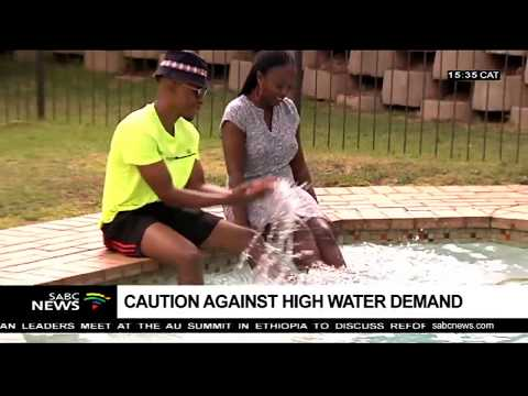 Joburg water cautions on high water demand due to hot weather