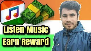 Listen music and earn money|| indian music player app full review