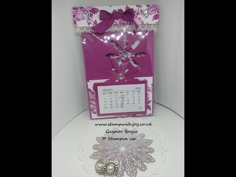 DIY calendar daisy card  craft fair ideas stampin up