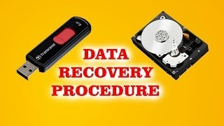 how to recover files and data from hard drive , memory card , pen drive