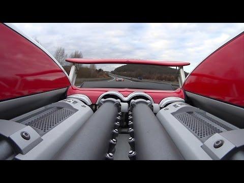 Bugatti Veyron 16.4 w/ Mansory Exhaust Full Throttle on German Autobahn
