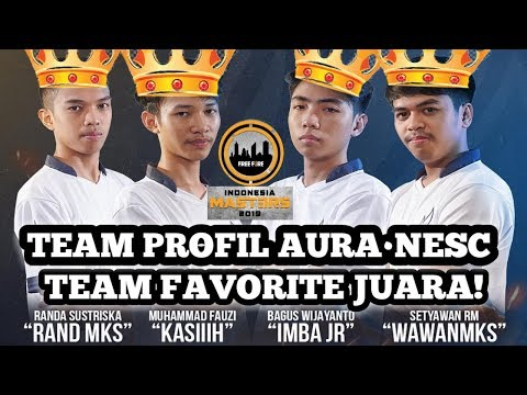 Profil Team Aura NESC Team Favorite Juara ! #RoadToIndonediaMaster2019    - Free Fire Indonesia
